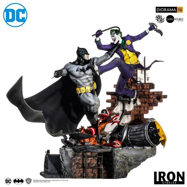 精彩萬分的宿敵之戰!! Iron Studios DC Comics【蝙蝠俠大戰小丑 by Ivan Reis】Batman vs Joker by Ivan Reis 1/6 比例全身場景雕像作品