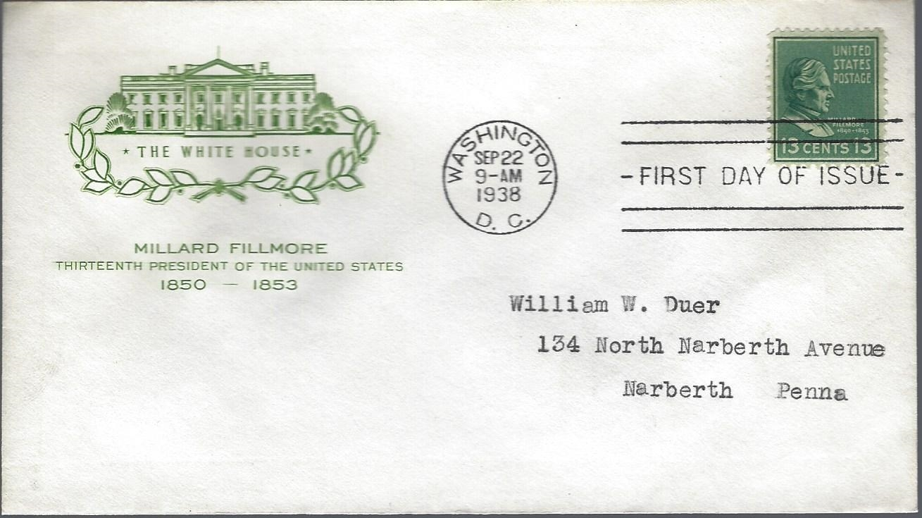United States - Scott #818 (1938) first day cover