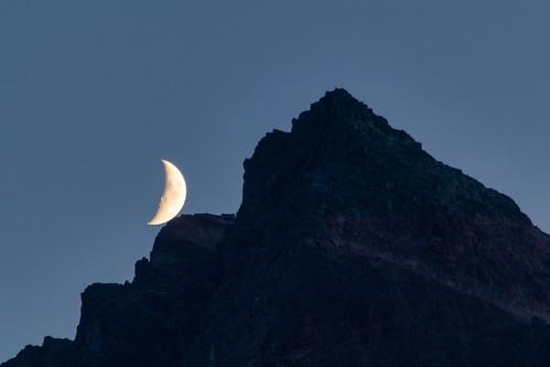 Moonset in Gargellen