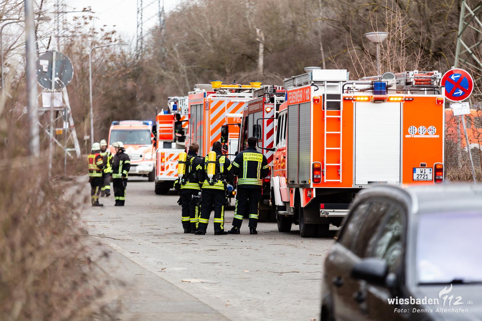 Feuer in Wiesbadener Umspannwerk 04.03.19