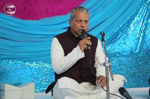 Stage Secretary, Ram Saran from Palam Delhi
