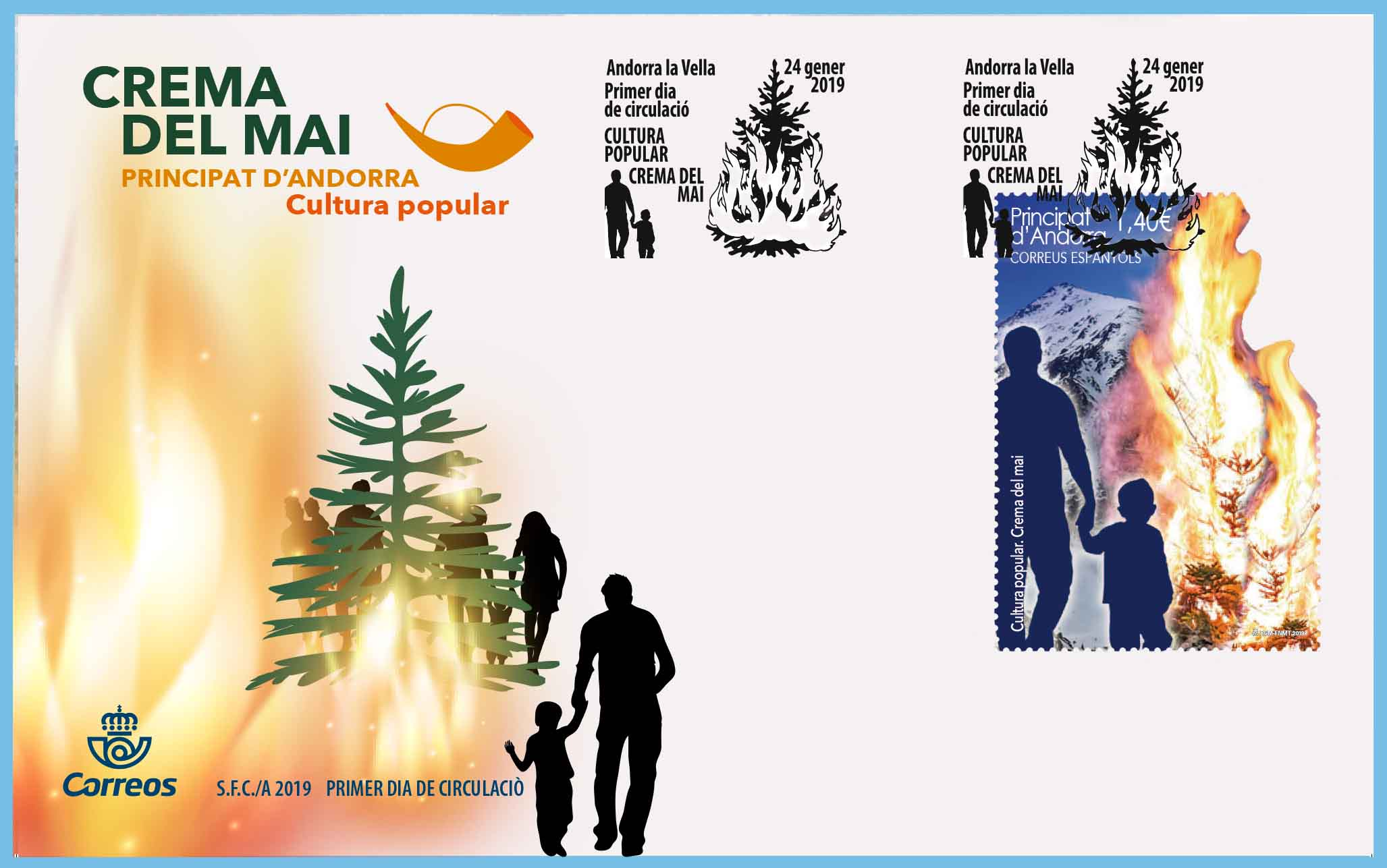 Spanish Andorra - Popular Culture: Cream of Mai 2019 (January 24, 2019) first day cover