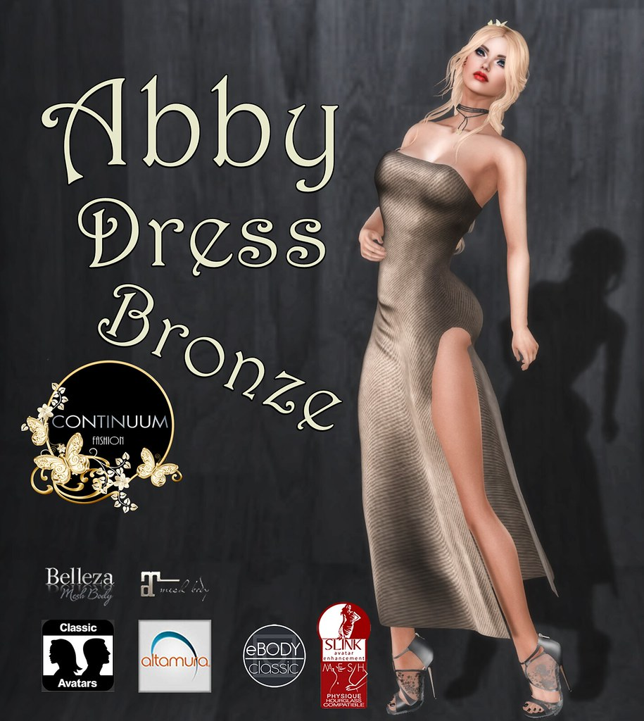 Continuum Abby dress bronze GIFT
