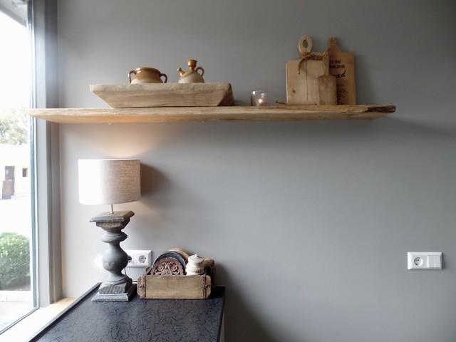 Plank keuken lamp landelijk