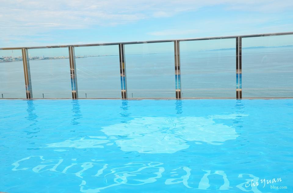 [日本。沖繩住宿]中部北谷美國村Vessel hotel Campana Okinawa坎帕納船舶酒店。夏季限定,天海一色無邊際絕景泳池
