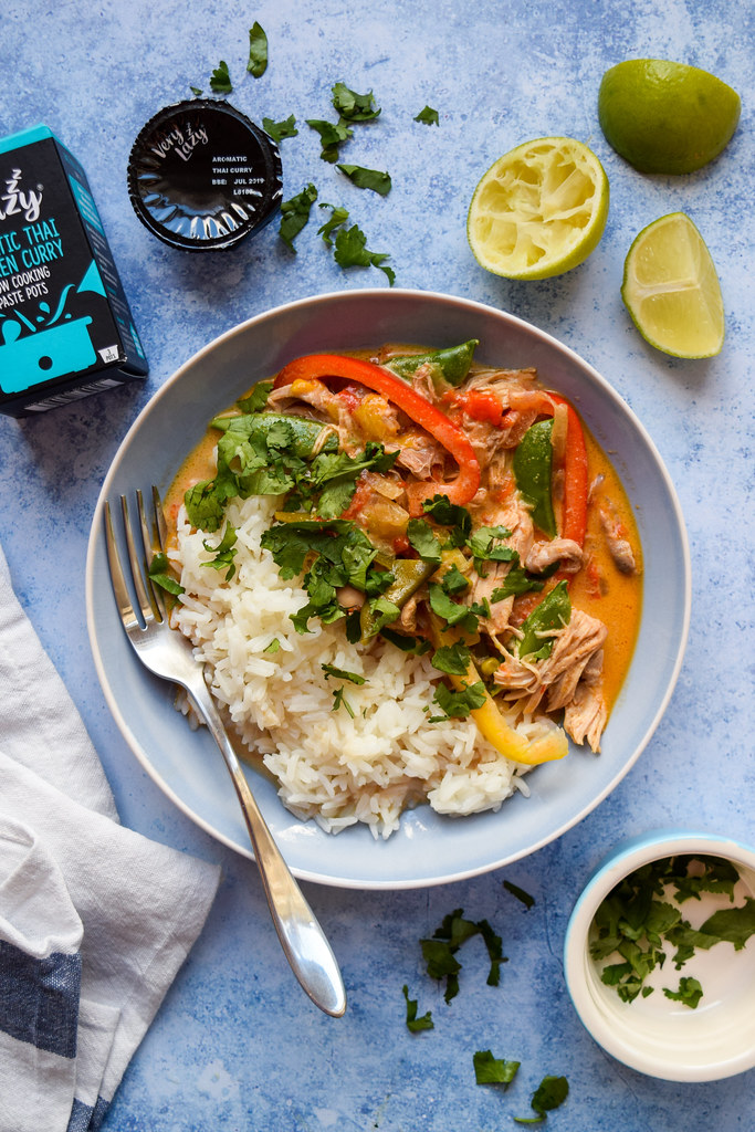 Very Lazy Slow Cooker Thai Red Chicken Curry
