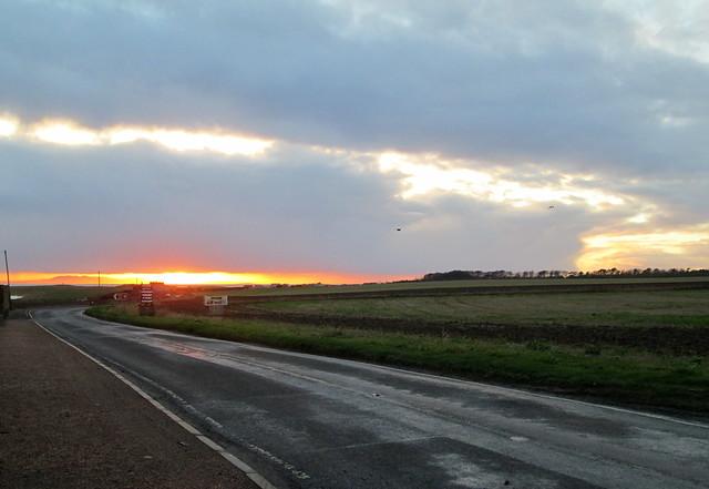 winter sunset , Fife
