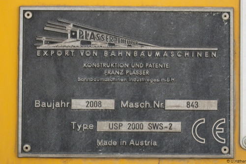 DB-Bahnbau - 97 16 34 002 17-6 Universalschotterplaniermaschine USP 2000 SWS-2 _e