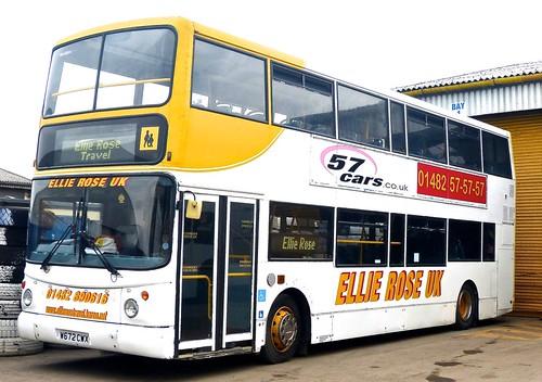 W672 CWX 'Ellie Rose Travel Ltd.', 'Ellie Rose UK'. Volvo B7TL / Alexander ALX 400 on Dennis Basford's railsroadsrunways.blogspot.co.uk'