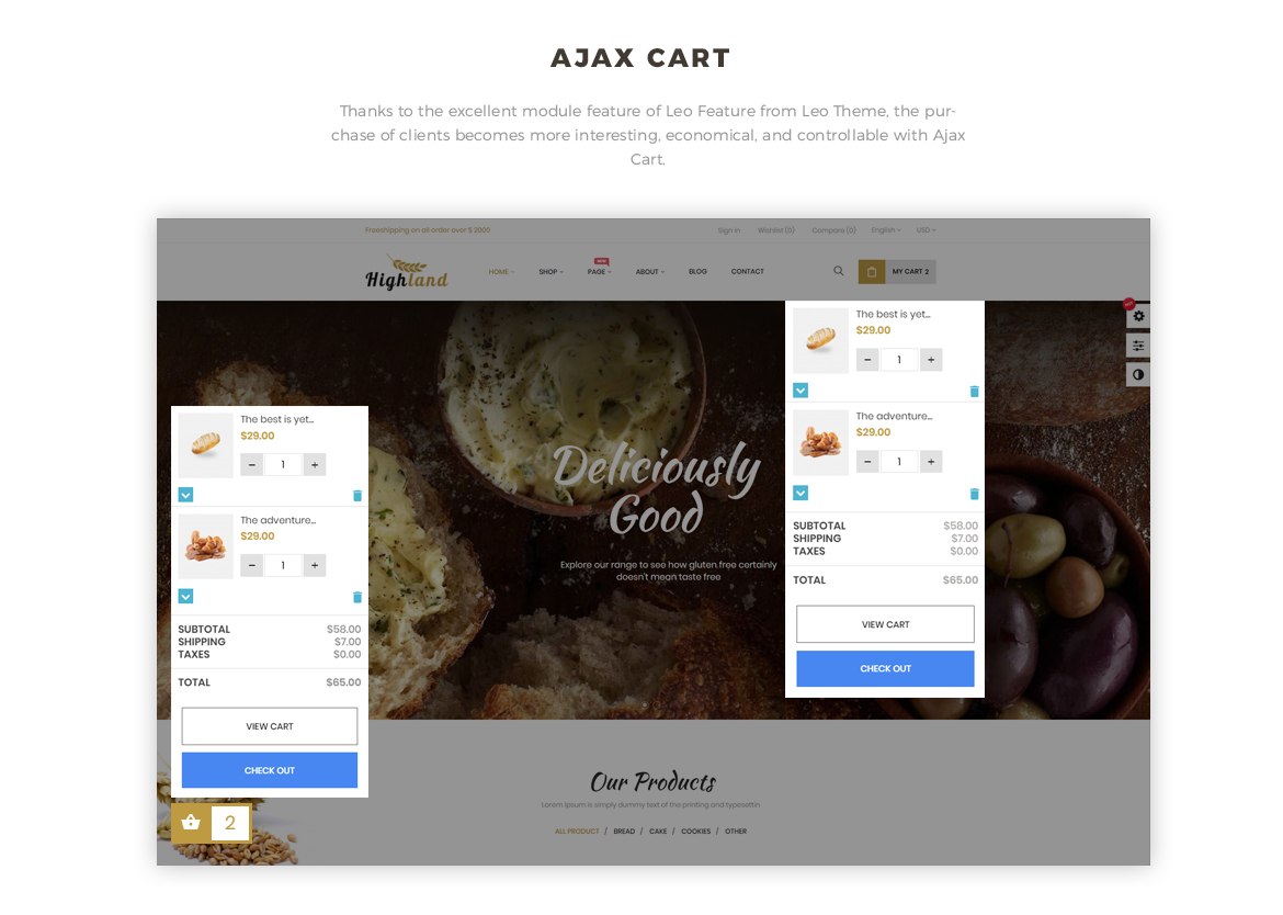 ajax add to cart - Bos Highlands - Food and Drink Prestashop Theme