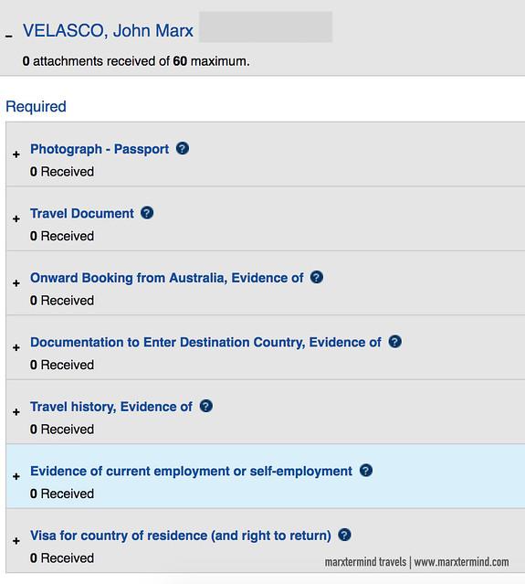 Australian Transit Visa Documents