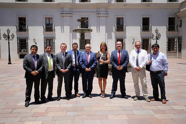 Ministro Chadwick junto al Subsecretario Salaberry se reúne con alcaldes de la Provincia de Arauco en  La Moneda | 03.01.19