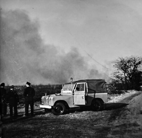 Wolfheze Heelsum Aangestoken heidebrand 13 maart 1965 1 Collectie Dies Kosters