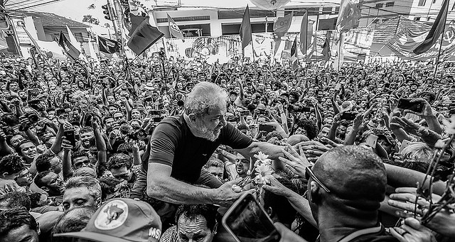 On the day he turned himself in to the police, a huge crowd gathered outside the Metal Workers' Union building in São Bernardo do Campo - Créditos: Ricardo Stuckert/Instituto Lula