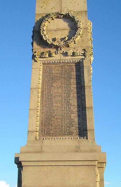 Peterhead Great War Memorial Names