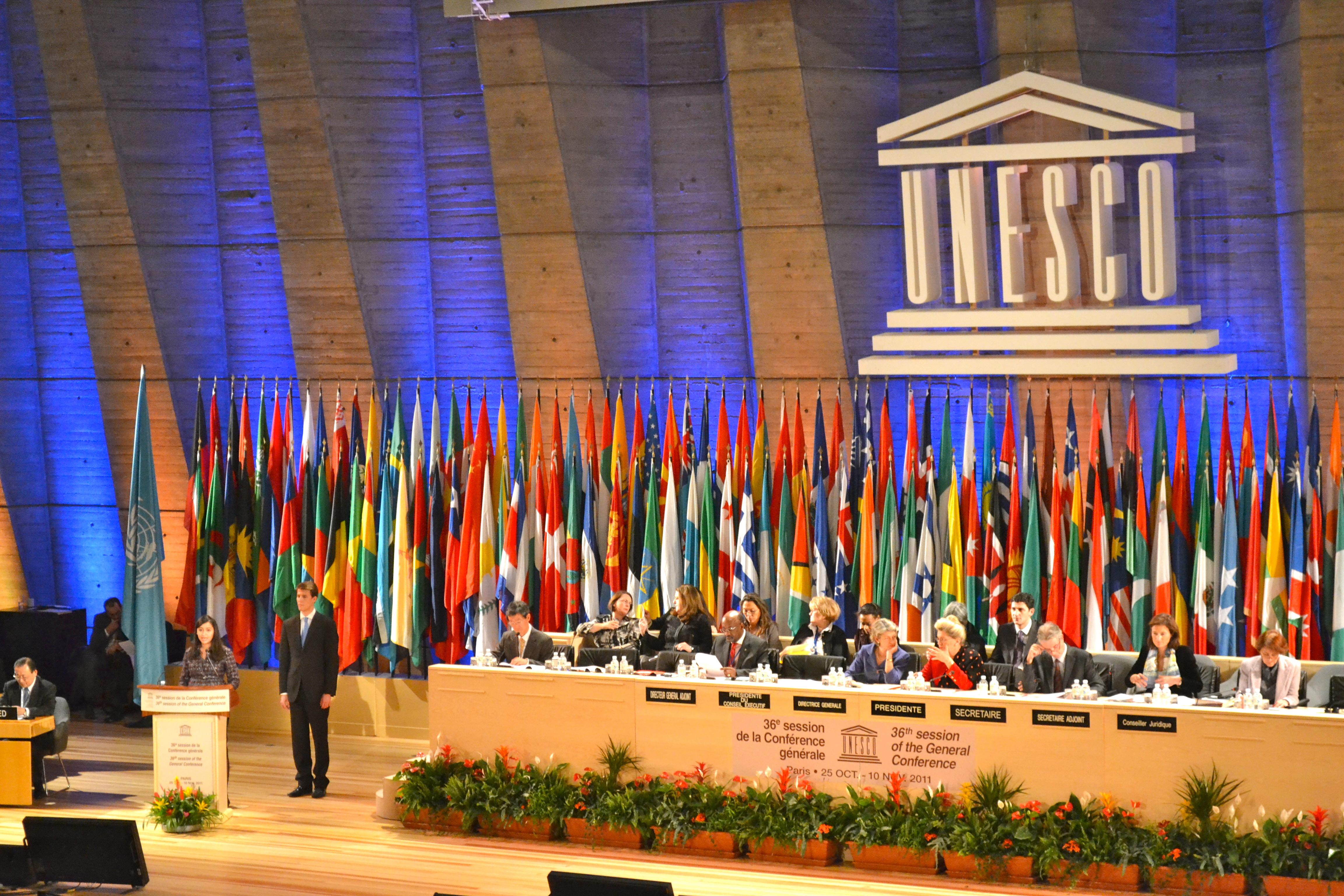 UNESCO Headquarters, Paris, France, on October 31, 2011.