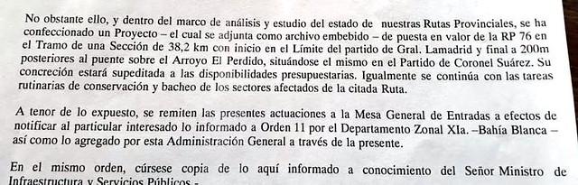 envio del prOyecto que estara supeditado a LAS POSIBILIDADES PRESUPUESTARIAS CORTADO