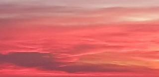 Dark Red February Sunrise