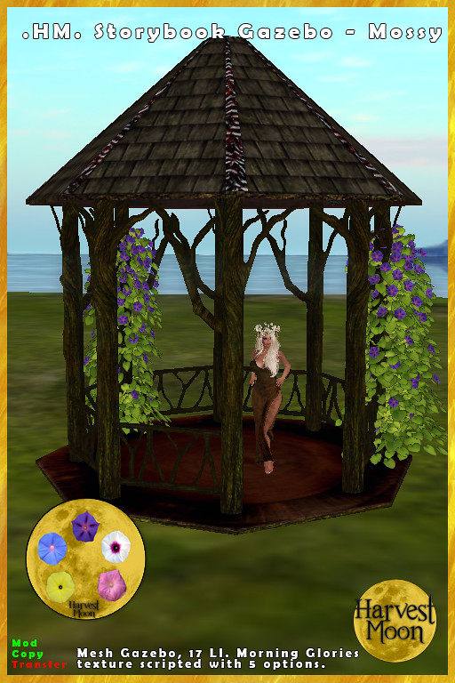 Harvest Moon – Storybook Gazebo – Mossy