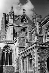 St Albans ,  taken on a 1935 Zeiss Contax  &  1.5 50mm Sonnar