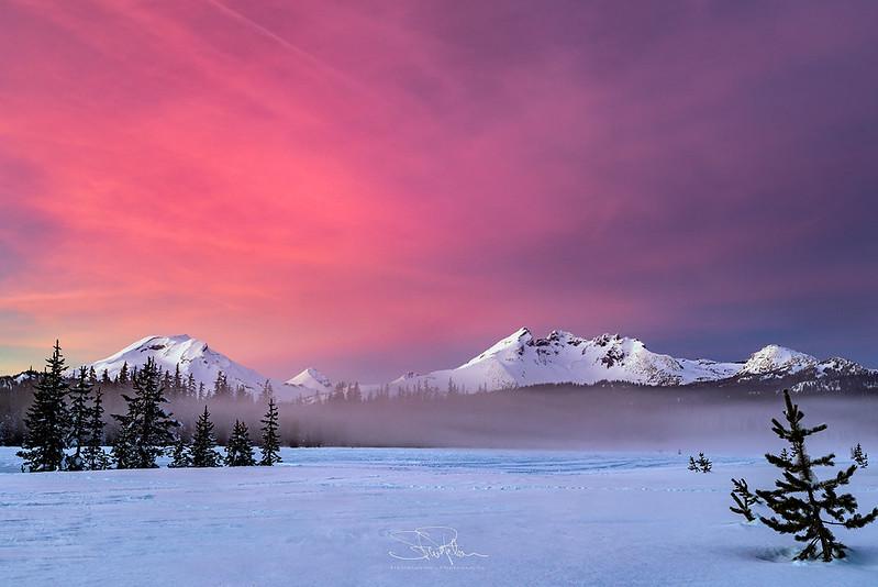 Cascades New Year's Sunset