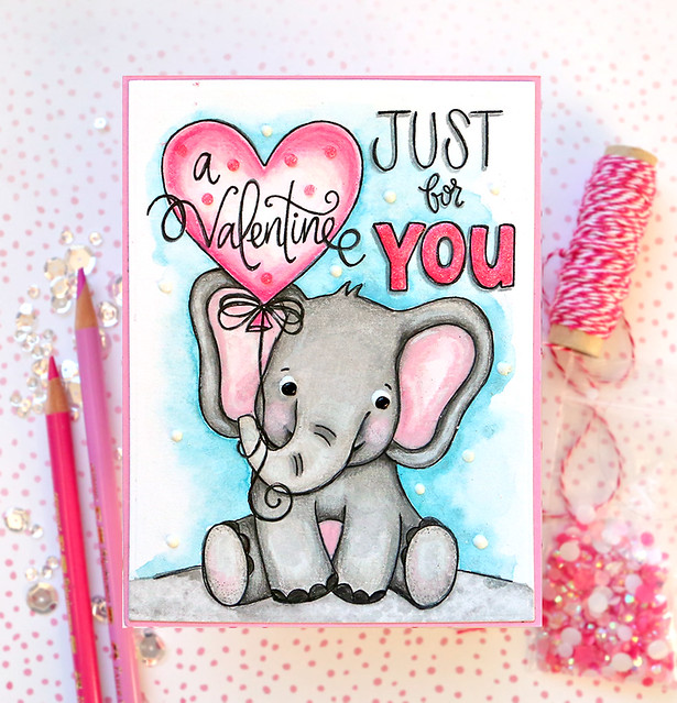 Valentine's Day Watercolor Card 11