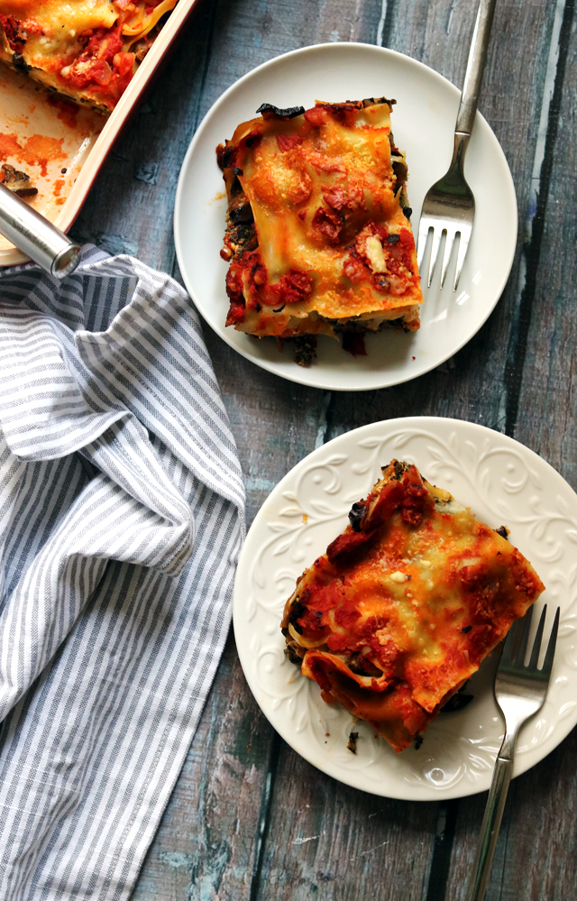 Roasted Eggplant and Swiss Chard Lasagna