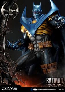 極具威懾感的魄力造型! Prime 1 Studio DC Comics【騎士隕落 蝙蝠俠】ナイトフォールバットマン MMDC-34 1/3 比例全身雕像作品 普通版/EX版