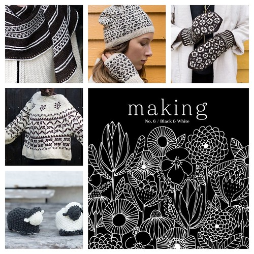Making Magazine is another beautiful publication of projects for knitters and makers.