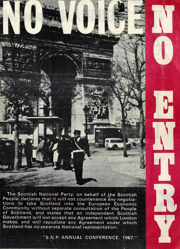 No Voice.  No Entry.  SNP  Common Market leaflet.  c.1968