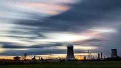 Saltend sunset clouds.