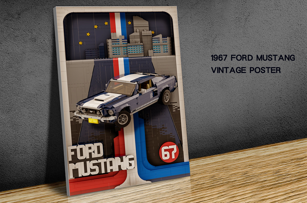 70's Ford Mustang vintage poster