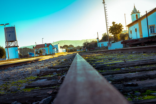 portugal beira alentejo raylway station train cold sunset nikon d3200