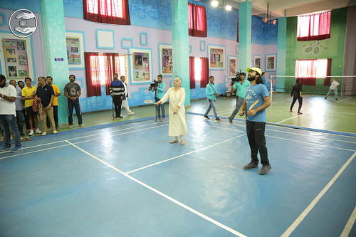 Mohini Ahuja Ji playing Badminton