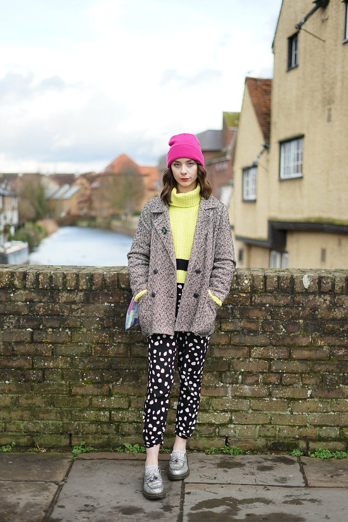 Lazy Oaf Lime Knit & Collusion spotty trousers