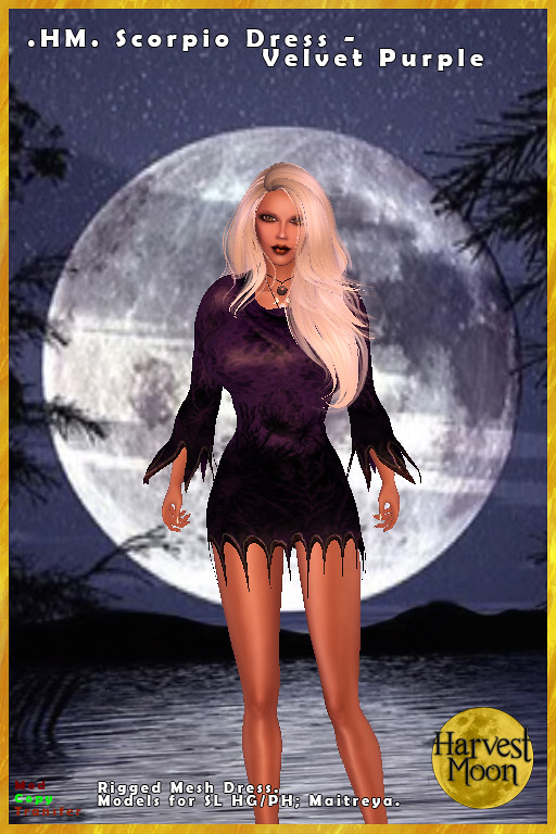 Harvest Moon – Scorpio Dress – Velvet Purple