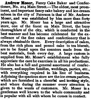 Andrew Moser bakery newspaper article