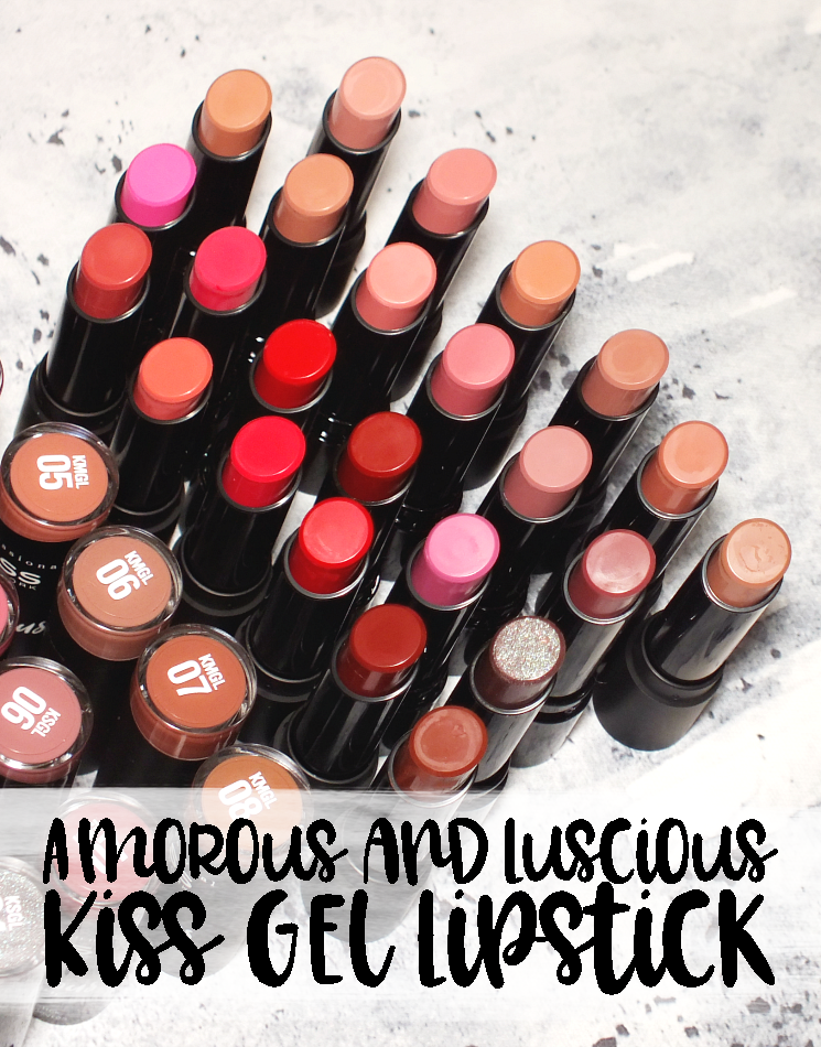 kiss amorous matte & luscious shine gel lipstick