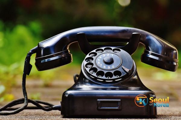 Régi divatos telefon