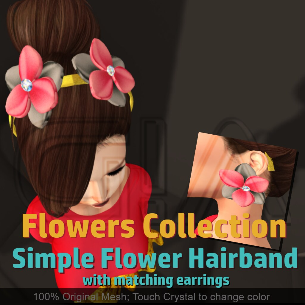 Simple Flower Earrings n Hairband Vendor - TeleportHub.com Live!