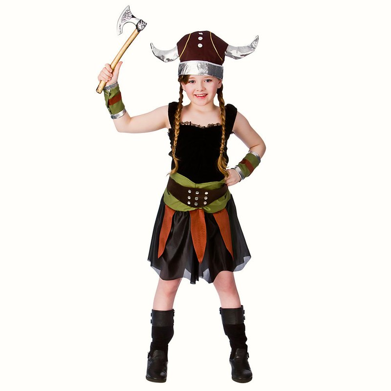 Viking girl childrens school fancy dress costume medieval World book day 5 6 7
