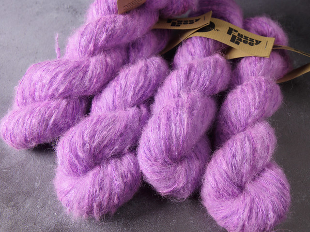Fuzzy Lace – Brushed Baby Suri Alpaca & Silk hand dyed yarn 25g – 'Surreal'