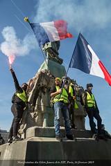 Paris, manifestation du 16 février 2019 des gilets jaunes, Acte XIV