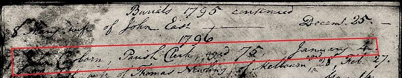 Casb John bu 1796 Meldreth