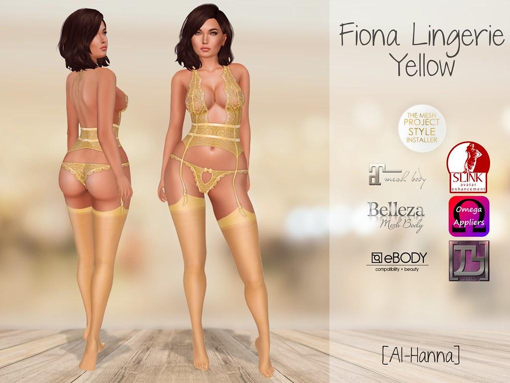 [Al-Hanna] Fiona Lingerie Yellow
