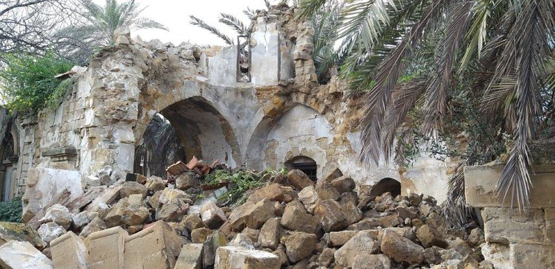 Collapse of the walls of St. James' Church, Buffer Zona of Nicosia, Cyprus