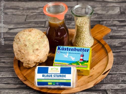 Zutaten Sellerie-Buchweizen-Gratin mit Blauschimmel