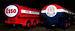 Ledlon89 posted a photo:	Leyland Octopus  Esso and Foden Regent petrol tankers , repro Dinky Toys models by Atlas Editions.