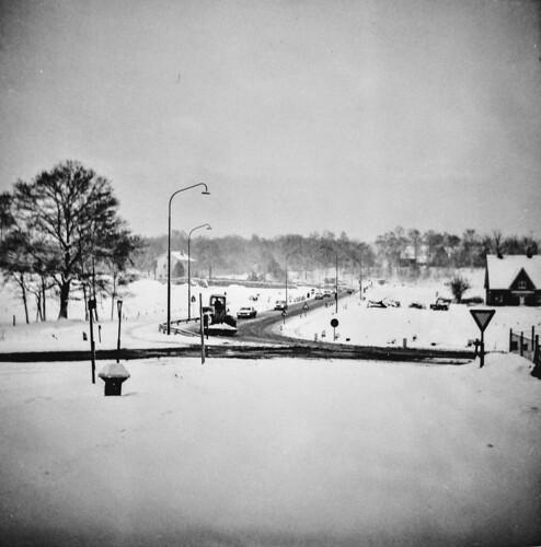 Heelsum Utrechtseweg S Bocht 17 januari 1970 Collectie Dies Kosters