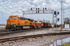 BNSF 6399 | GE ES44AC | BNSF Thayer South Subdivision